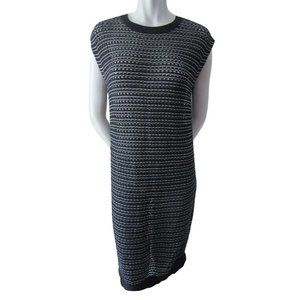 ❤️HP AllSaints Black and Silver Sheer Knit Dress 8